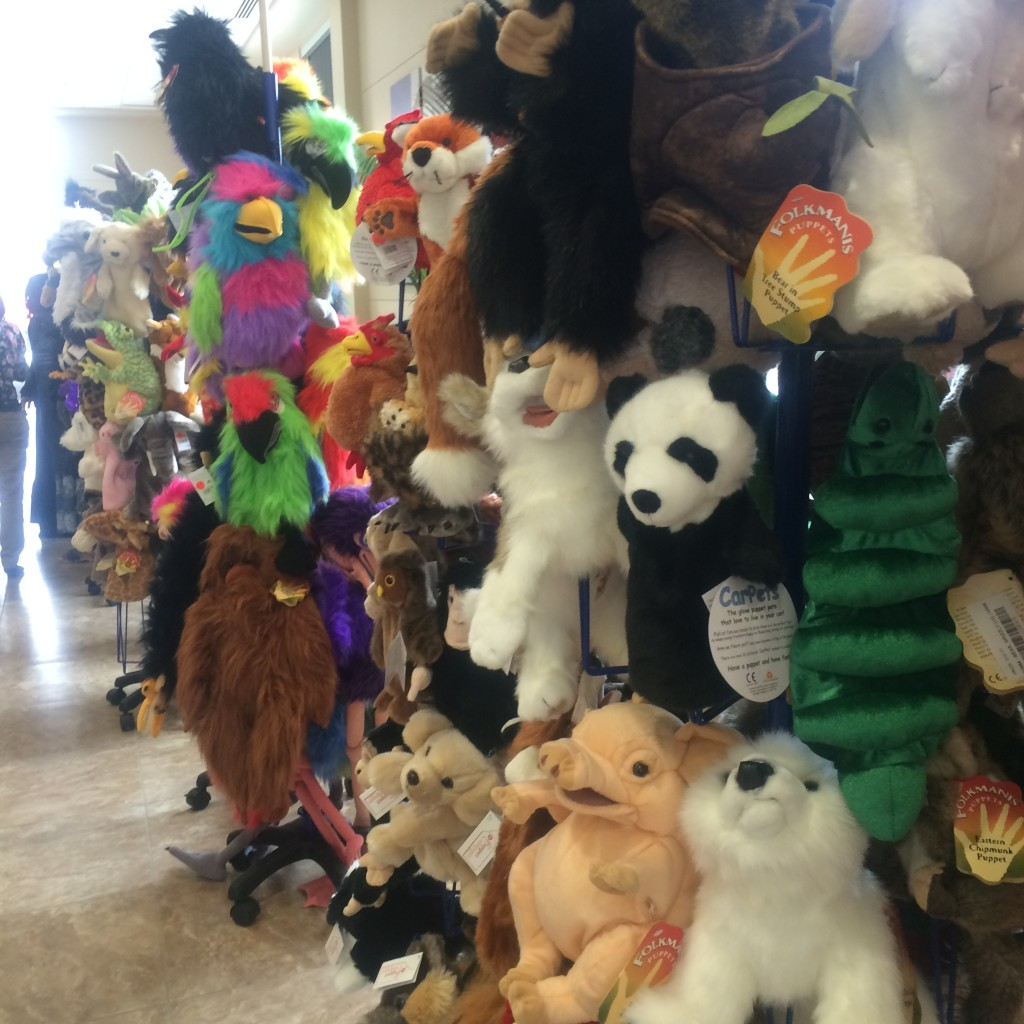 Puppets for sale at the 2015 Kids First conference in Des Moines